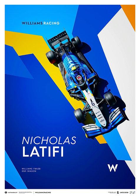 WILLIAMS RACING - NICHOLAS LATIFI - 2021 | LIMITED EDITION