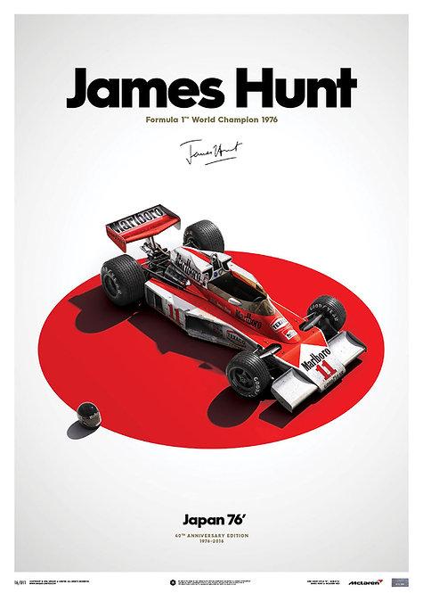 McLaren M23 - James Hunt - Japan - Japanese GP - 1976 - Limited Poster