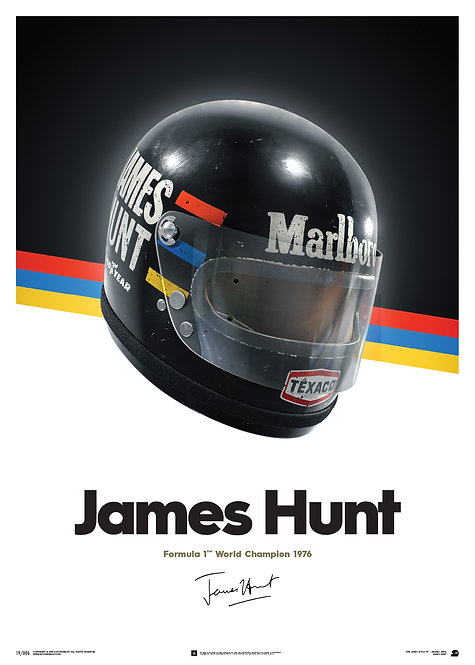 James Hunt - Helmet - 1976 - Poster
