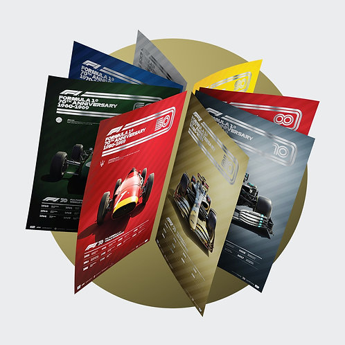 FORMULA 1® DECADES - 8 POSTERS, ONE GLORIOUS HISTORY   COLLECTOR'S EDITION