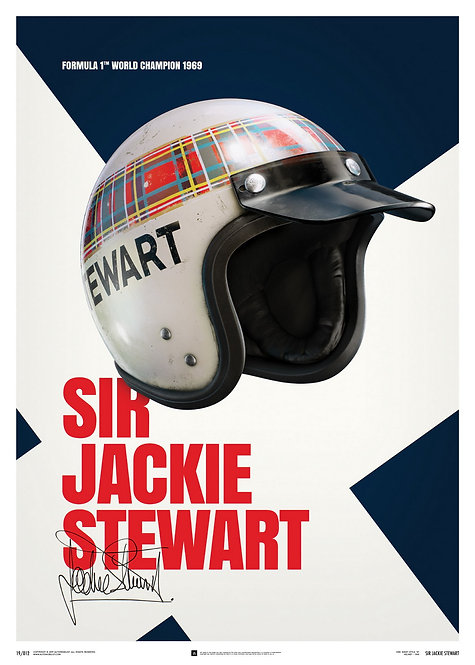 Sir Jackie Stewart - Helmet - 1969 - Poster