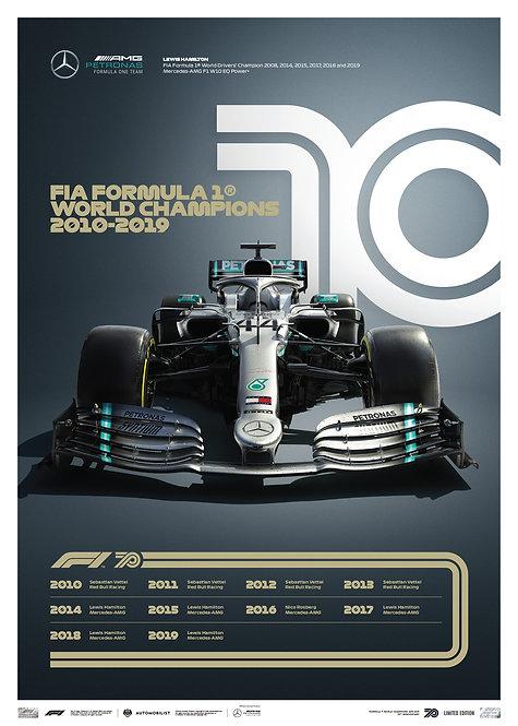 FORMULA 1® DECADES - 2010s Mercedes-AMG Petronas F1 Team | Limited Edition