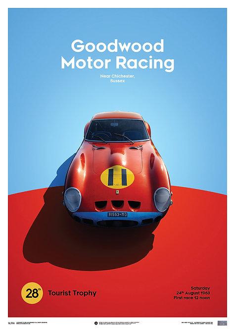 Ferrari 250 GTO - Red - Goodwood TT - 1963 - Limited Poster