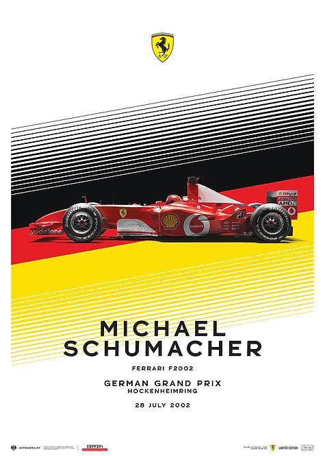 FERRARI F2002 - MICHAEL SCHUMACHER - GERMAN GRAND PRIX - 2002   LIMITED EDITION