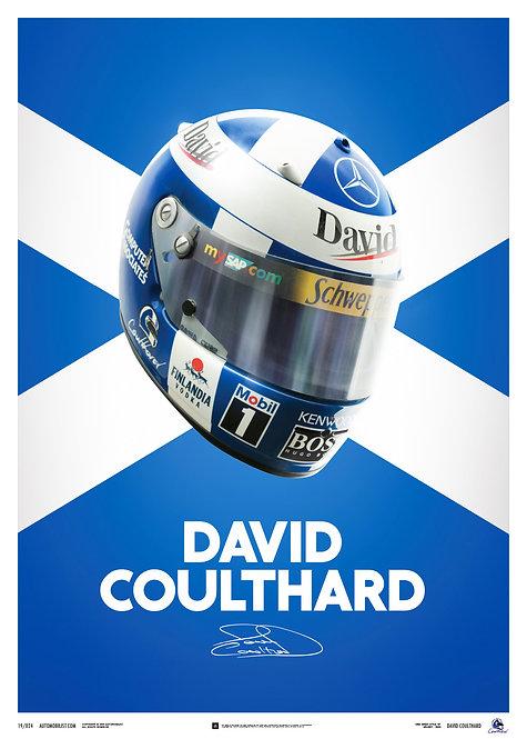 David Coulthard Helmet Poster