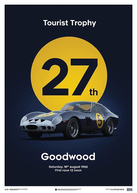 Ferrari 250 GTO - Dark Blue - Goodwood TT - 1962 - Limited Poster