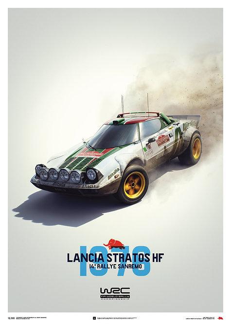 Lancia Stratos HF - White - Alitalia - Sanremo - 1976 - Poster