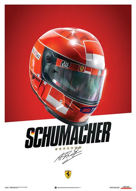 Michael Schumacher Helmet Poster