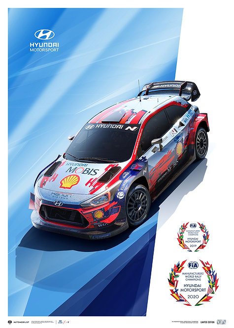 HYUNDAI MOTORSPORT - WRC MANUFACTURERS' CHAMPIONS 2019/2020*   LIMITED EDITI