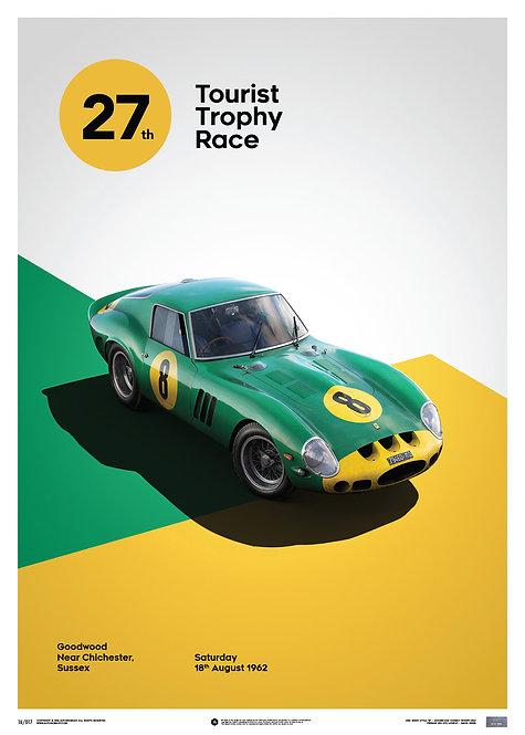 Ferrari 250 GTO - Green - Goodwood TT - 1962 - Limited Poster