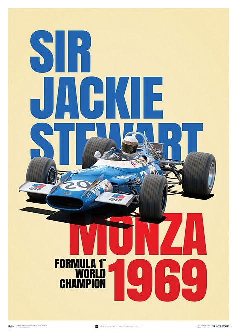 Matra MS80 - Sir Jackie Stewart - Monza Victory - 1969 - Poster