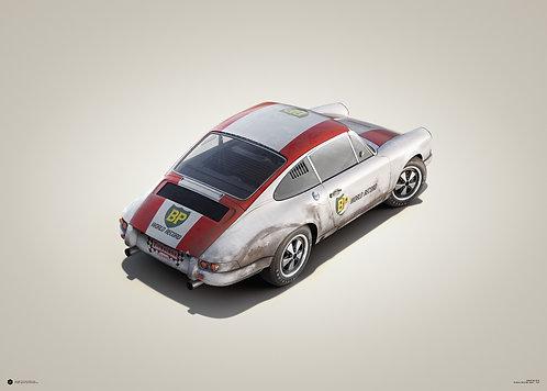 Porsche 911R - BP Racing - Monza - 1967 - Colors of Speed Poster