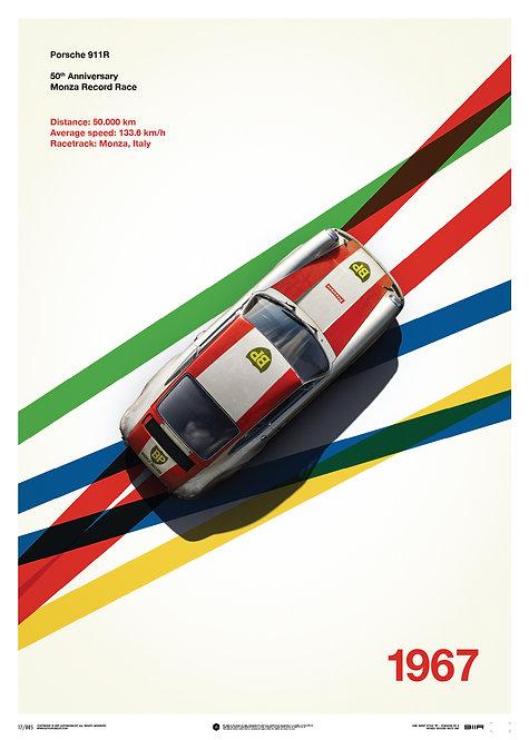 Porsche 911R - BP Racing - Monza - 1967 - Limited Poster