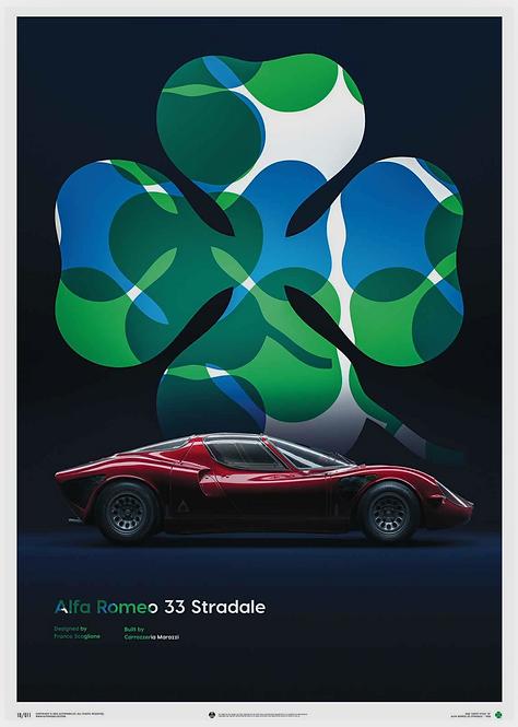 Alfa Romeo 33 Stradale - Red - 1967 - Poster