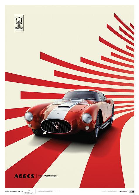 Maserati A6GCS Berlinetta 1954 - Red   Limited Edition