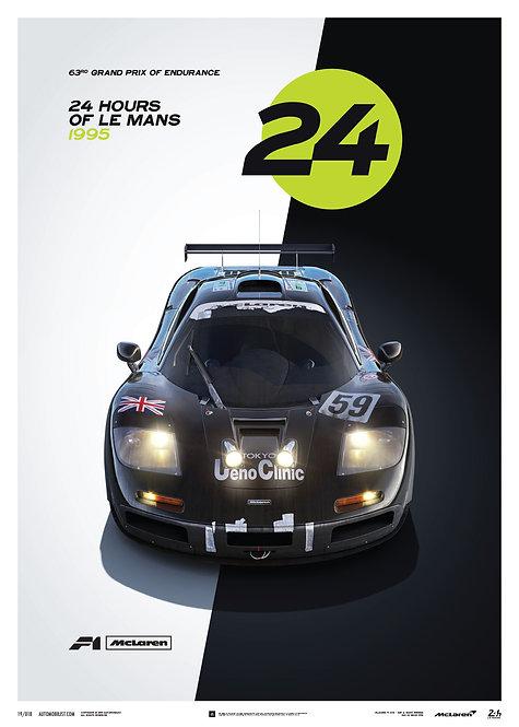 McLaren F1 GTR - 24h Le Mans - Poster
