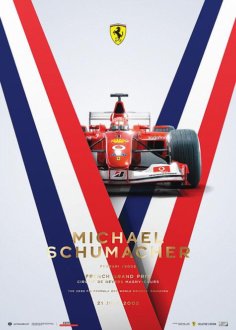 FERRARI F2002 - MICHAEL SCHUMACHER - FRENCH GRAND PRIX - 2002   COLLECTOR'S EDTN