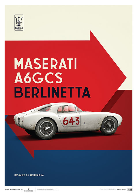 Maserati A6GCS Berlinetta 1954 - White | Limited Edition