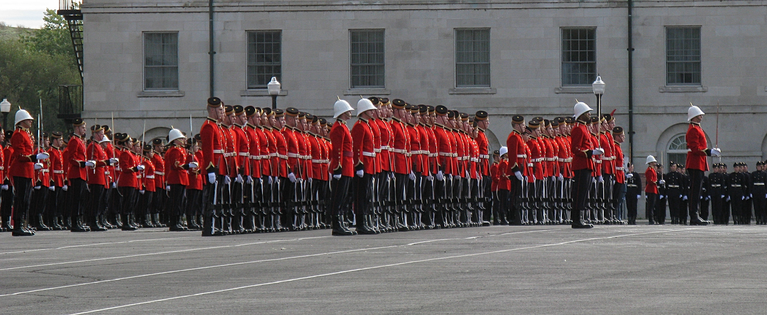 Royal Military College of Canada on parade
