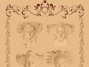 Art Nouveau Faces by Travel Photographer Doug Matthews