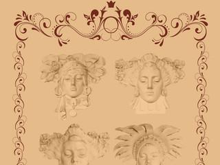 Art Nouveau Faces by Travel Photographer Doug Matthews