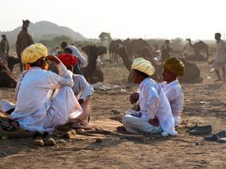 Camel Traders at Pushkar by Travel Photographer Doug Matthews