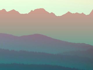 Morning Mountains by Landscape Photographer Doug Matthews