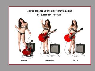 Guitar Goddess Mk 1 by Pinup Photographer Doug Matthews