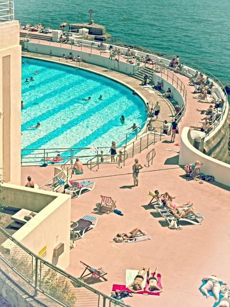 Tinside Lido swimming pool, Plymouth, England