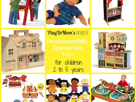Developmentally Appropriate Toys for Children aged 2-5 years