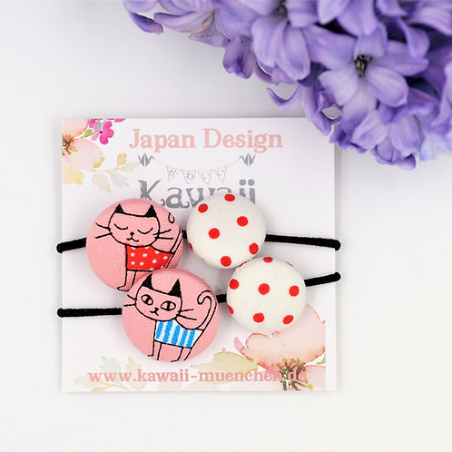 Kurumibotan  Doppel (Katze und rote Punkt)