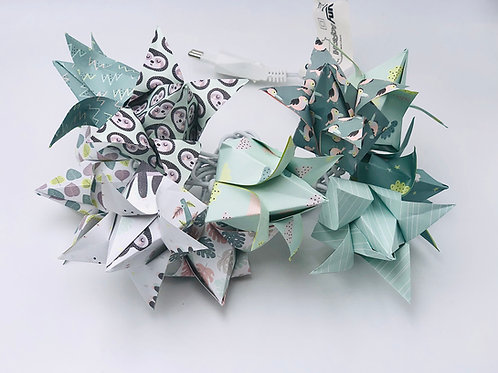 Lichterkette Tulpe Faultier Mint