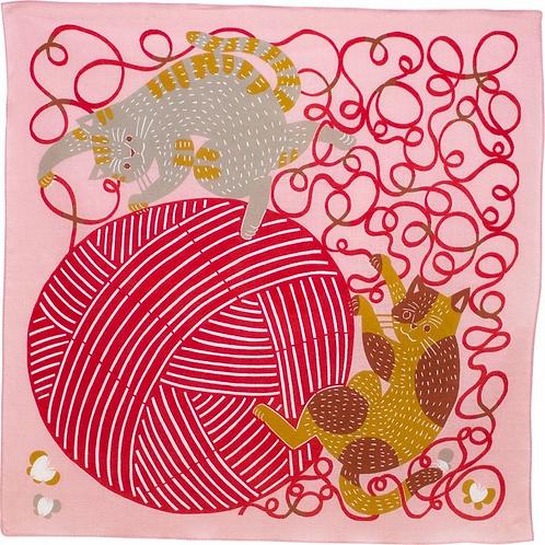 Furoshiki 50 Katakata  Katze  , 50 x50  cm