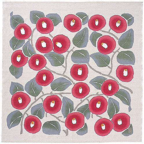 Furoshiki 90 Yumeji Takehisa | Camellia Light Gray