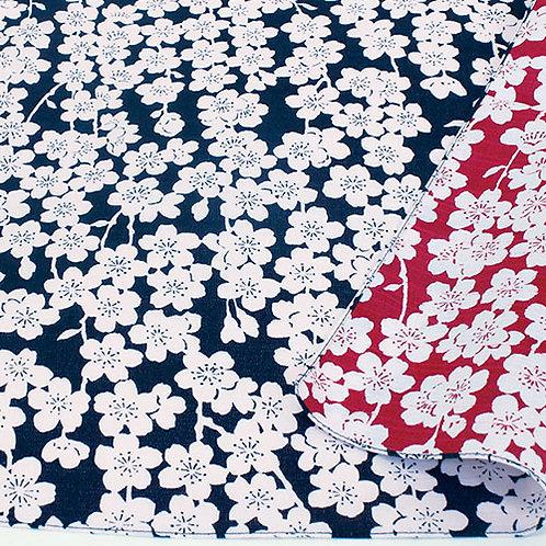 Furoshiki 48 Isa monyo Reversible Kirsche Blau-Rot