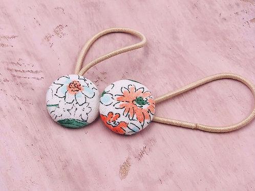 Kurumibotan Haargummis Weiß Orange-Tulpe