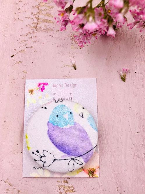 Kurumibotan Magnet  Vogel lila