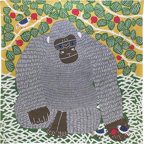 Musubi Katakata Furoshiki Wickeltuch, Motiv:Gorilla 104x104cm