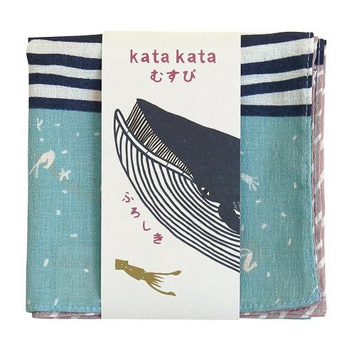 Furoshiki 50 Katakata Wal,Türkis