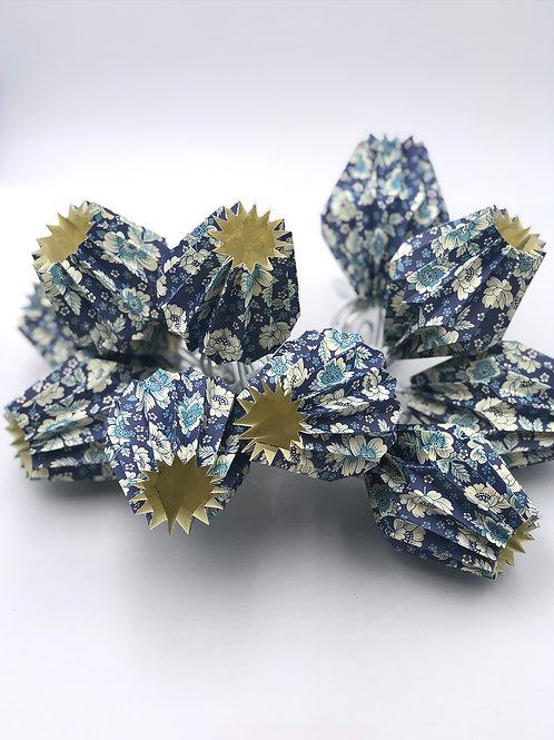 Lichterketten Plissea (blau Blumen)