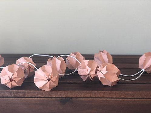Lichterketten Plissea (lachsrosa Rosa)