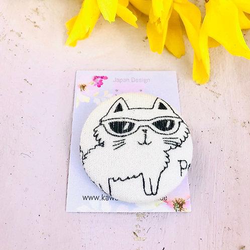 Kurumibotan Magnet 3,8 Katze mit Sonnenbrille