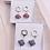 Thumbnail: Origami Ohrringe Geometorisch Samehada mit Swarovski Perlen