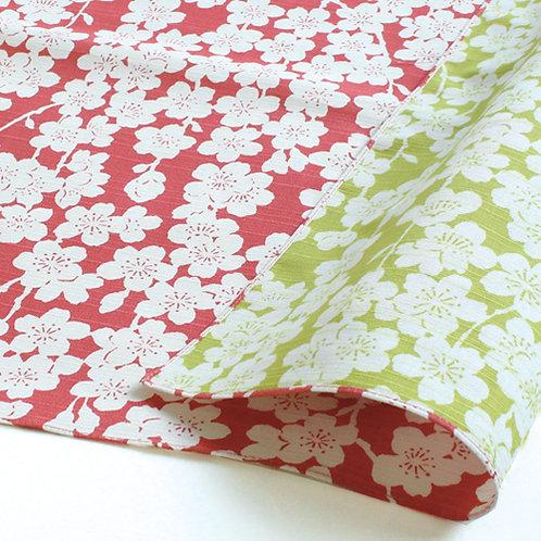 Furoshiki 48 Isa monyo Reversible | sakura rosa-grün