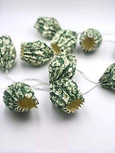 Origami Lichterkette , Origami Dekoration , origami Tulpe, Origami ,Weihnachtsdeko , Weihnachtslicht , papier leuchte , origami Leuchte , Lichterkette Weihnachten, Origami Lichterkette blumen, Origami Japan design , Kawaii ,mitbrinsel weihnachtsgeschenk