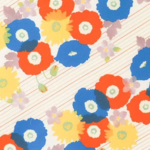 Furoshiki Cohare 45 Blütenstreifen Beige