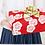 Thumbnail: Furoshiki 104 Isa monyo Reversible Ume Rot-Grün
