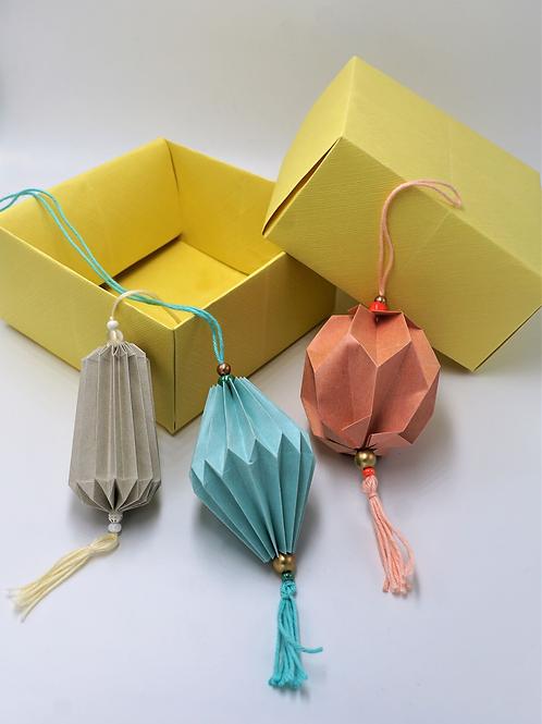 Origami Plissea Anhänger Geschenk Set