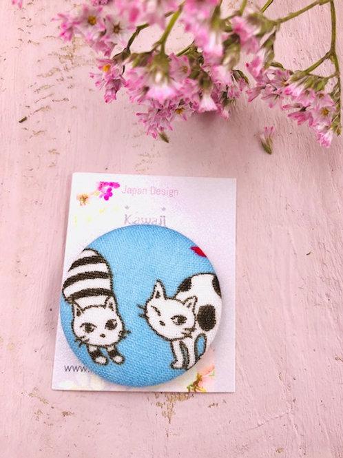 Kurumibotan Magnet 3.8 Katze blau