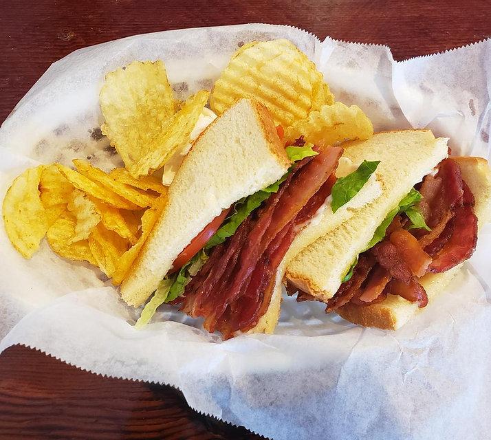 Sandwich at a Soul Food Restaurant